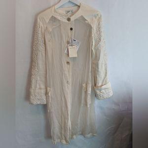 Dries Van Noten embroidered silk coat M BNWT